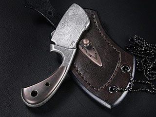 Custom Cleaver Neck Knife 332