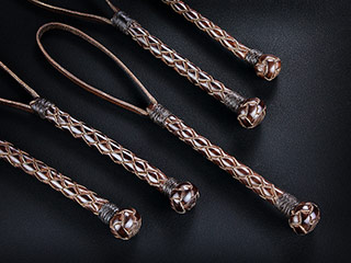 Braided Kangaroo Leather Lanyard